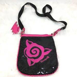 Betseyville black and pink cross body bag
